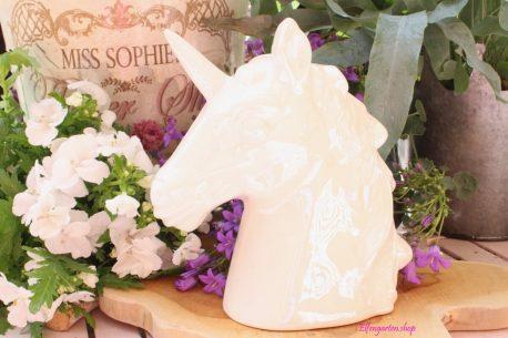Einhorn Kopf Dekofigur Spardose Skulptur Büste Unicorn Fantasy