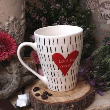 Sprüche Tasse Kaffeebecher Spruch I love you more