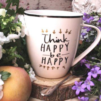 Jumbobecher Think Happy be Happy