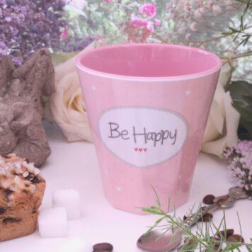 Mea Living Becher Tasse Tee Kaffee Be Happy