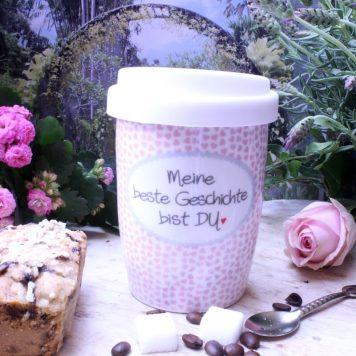 Mea Living Coffee To Go Becher Meine beste Geschichte bist Du
