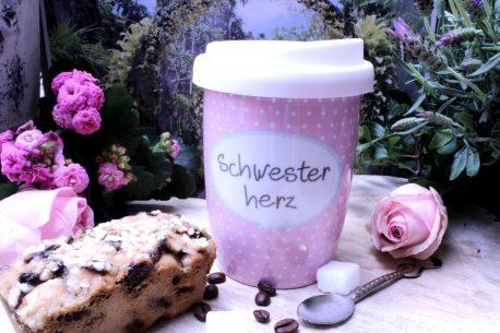 Mea Living Coffee To Go Becher Schwesterherz