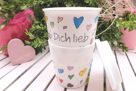Mea Living Coffee To Go Becher ich hab Dich lieb