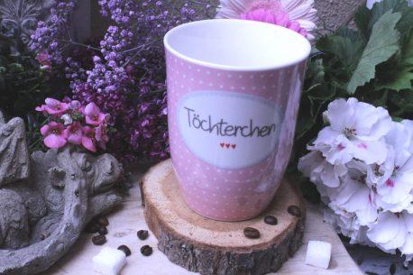 Mea Living Sprüche Tasse Kaffeebecher Töchterchen