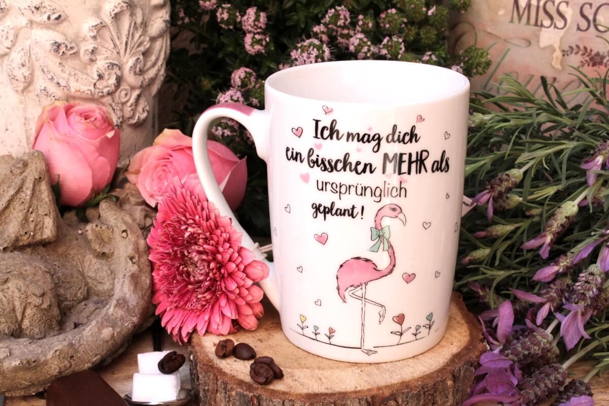 Ich mag dich ein bisschen mehr als ursprünglich geplant Kaffeetasse Liebe