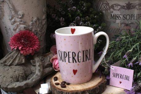 PPD Henkelbecher Sprüche Tasse Spruch Supergirl