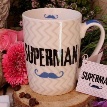 PPD Henkelbecher Sprüche Tasse Superman