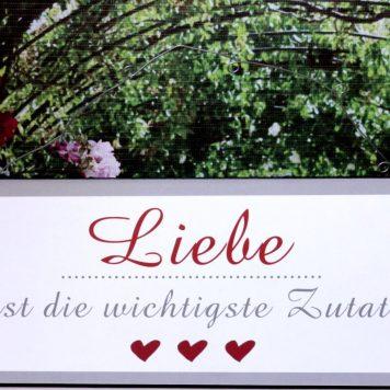 Deko Blechschild Lebenssprüche Liebe ist die Wichtigste Zutat