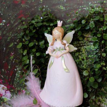 Dekofigur Blütenfee Prinzessin Hände gefaltet