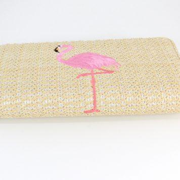 Geldbörse Portemonnaie Damen Beige Flamingo