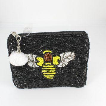 Hoff Interieur Perlentäschchen Biene Black