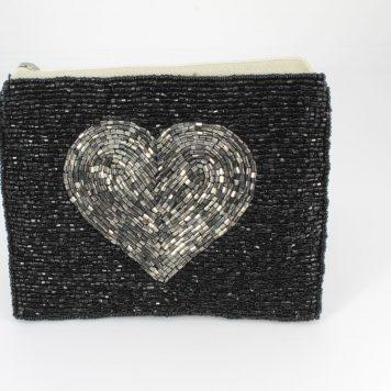 Hoff Interieur Perlentäschchen Black Herz