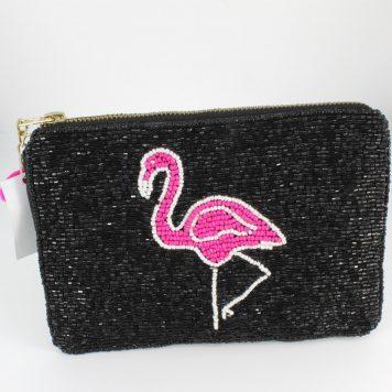 Hoff Interieur Perlentäschchen Black Pink Flamingo