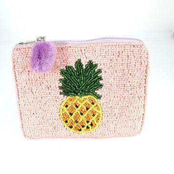 Hoff Interieur Perlentäschchen Cool Ananas Rosa