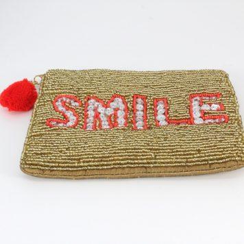 Hoff Interieur Perlentäschchen Gold Smile