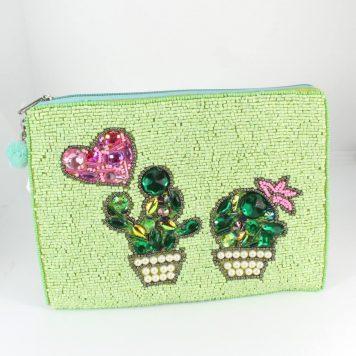 Hoff Interieur Perlentäschchen Hellgrün