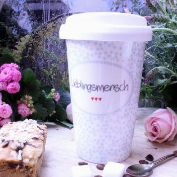Mea Living Coffee To Go Becher Lieblingsmensch bleu