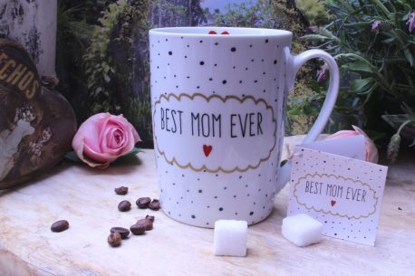 PPD Henkelbecher Spruch Best Mom Ever