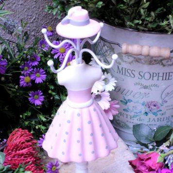 Schmuckhalter Puppe Schmuckständer Rosa