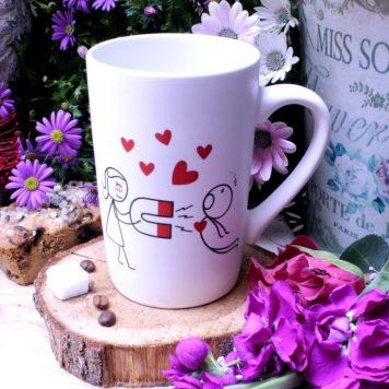 Sprüche Tasse Henkelbecher Kaffeebecher Herzmagnet