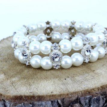 Armband Perlen Duo Silber