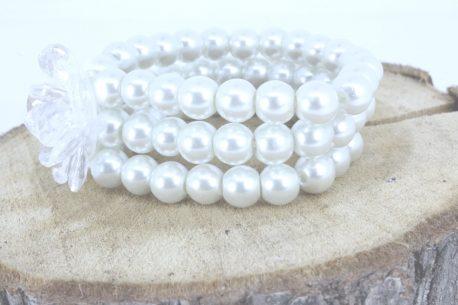 Armband Perlen Trio Silber