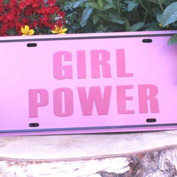 Deko Blechschild Coole Designs zum Aufhängen Girl Power
