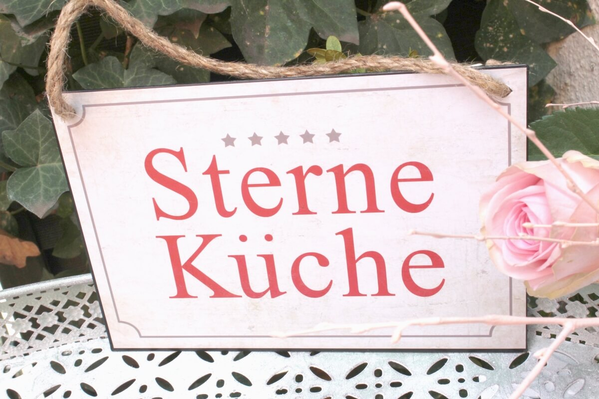 Deko Blechschild Coole Designs Sterne Küche