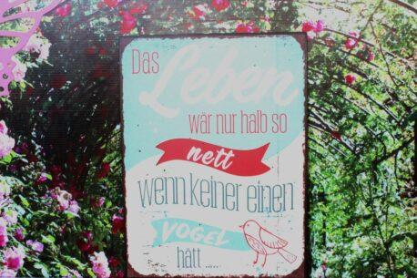Deko Blechschild Das Leben wär nur halb so nett