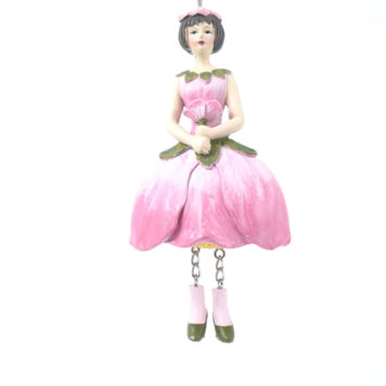 Deko Figur Blumenmädchen Apfelblütenmädchen zum Hängen