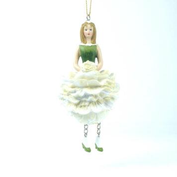 Deko Figur Blumenmädchen Pfingstrosemädchen zum Hängen
