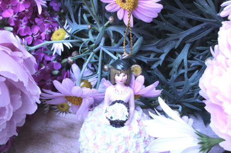 Deko Figur Dekohänger Blumenmädchen Hortensie zum Hängen