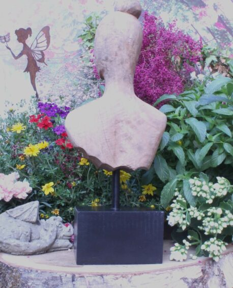 Deko Figur Dekoration Holz Skulptur Büste Kopf Torso