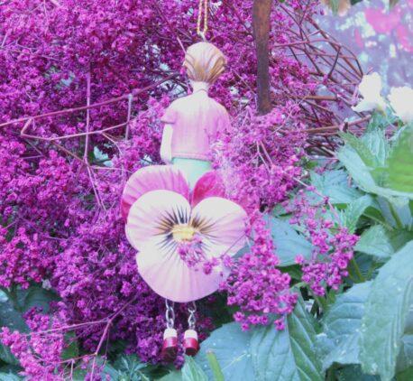 Deko Figur Fee Dekohänger Blumenmädchen Blüte