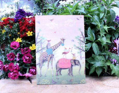 Deko Holzbild Coole Designs zum Aufhängen Elefant