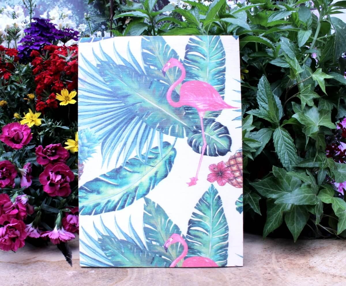 Deko Holzbild Coole Designs Zum Aufhängen Flamingo Green
