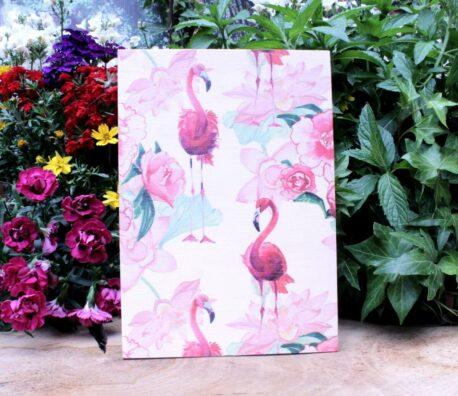 Deko Holzbild Coole Designs zum Aufhängen Flamingo Red