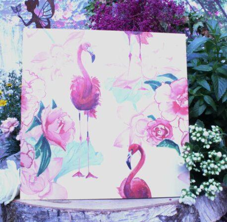 Deko Holzbild Coole Designs zum Aufhängen Flamingos