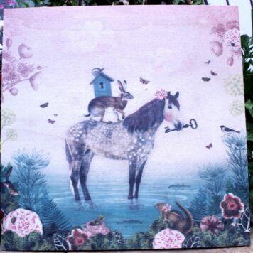 Deko Holzbild Coole Designs zum Aufhängen Pferd