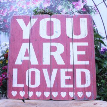 Deko Holzbild Coole Designs zum Aufhängen You Are Loved