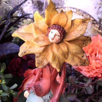 Dekofigur Glücksbringer Blüten Blumen Elfe