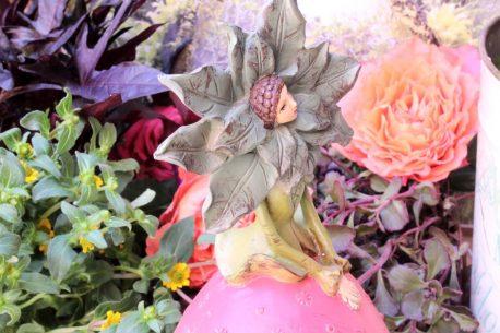 Dekofigur Glücksbringer Blüten Elfe