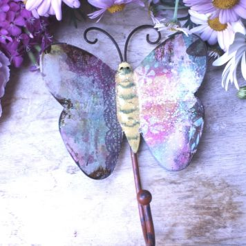 Figur Wandhaken Garderobenhaken Schmetterling Metall