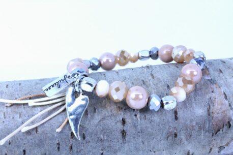 Juleeze Armband Lichtfarbe Beige & Silber