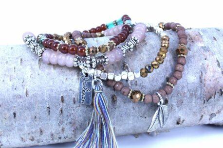 Juleeze Armband Set Brown Silber