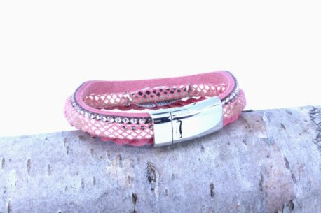 Juleeze Magnet Armband Rosa Feder Love