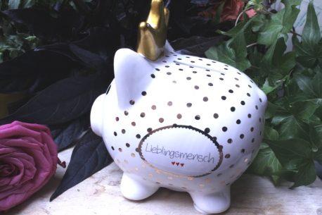 Mea Living Spardose Glücksschwein Lieblingsmensch