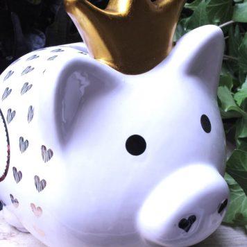 Mea Living Spardose Glücksschwein Prinz