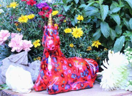 Pomme Pidou Spardose Einhorn Annabel Blumen