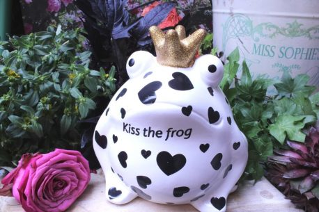 Pomme Pidou Spardose Frosch Freddy Black & White Kiss the Frog